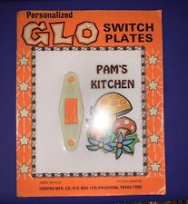 Personalized Glo Vintage Light Electric Switch Plate - Pam