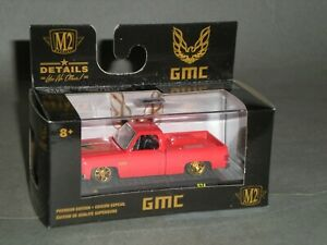 1/64th M2 Machines 1976 GMC Trans Am Square Body Truck Red