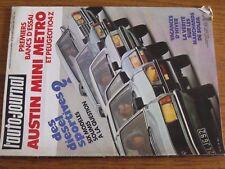 $$$ Revue auto-journal N°19 Austin Mini MetroRohrlOdyssee 4000Trafic diese
