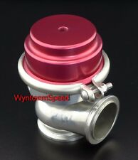 44MM Wastegate 17 PSI Turbo Stainless Steel V Band Exhaust Dump Valve RED