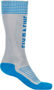 Fly Racing Mx Pro Sock Thick Grey/Blue Sm/Md