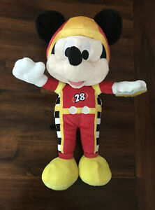 RARE Mickey Mouse Roadster Racer Funny Sounds Plush - 35cm