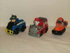 Paw Patrol Mini Vehicle Lot of 3 Vehicles Chase, Marshall, Zuma