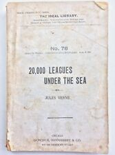 Rare Antique 1894 Jules Verne 20,000 Leagues Under the Sea Soft Cover Wraps Nemo