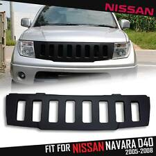 FRONT MATTE BLACK ABS GRID GRILL GRILLE FOR NISSAN FRONTIER NAVARA D40 2005-2008