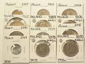 1923 to 1990 Poland Lot of 12 No Duplicates #4481