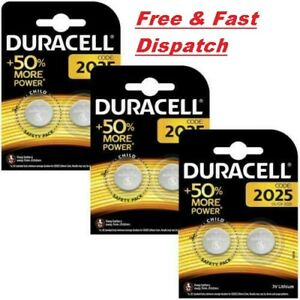 6 x Duracell CR2025 3V Lithium Coin Cell Battery 2025, DL2025, B