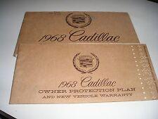1968 ORIGINAL CADILLAC OWNERS MANUAL+ PROTECTION PLAN