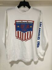 b1baafdcddd4 New listing Vintage 1984 Levis USA Olympic Games Los Angeles Long Sleeve T Shirt  Size Medium