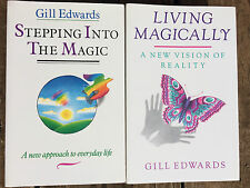 GILL EDWARDS Set of 2 STEPPPING INTO THE MAGIC AND LIVING MAGICALLY Joy Health