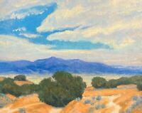 Western Art Santa Fe Oil Painting Impressionist Desert New Mexico Landscape New
