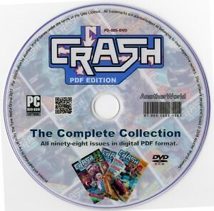 CRASH MAGAZINE Complete Collection on Disk ALL 98 ISSUES (QL/ZX81/Spectrum Games