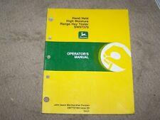 John Deere Hand Held High Moisture Range Hay Tester Sw07370 Operators Manual A8