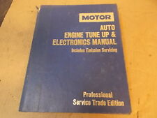1986 MOTOR SERVICE TUNE UP ELECTRONICS TRADE AUTO REPAIR MANUAL BOOK SHOP