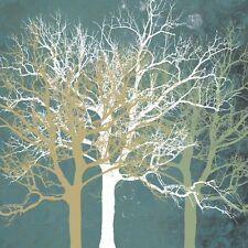 LANDSCAPE ART PRINT - Tranquil Trees by Erin Clark 16x16 Modern Tree Poster