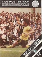 Football Programme - Newcastle United v Preston North End - Div 2 - 10/10/1979
