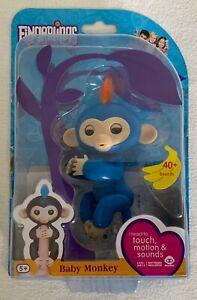 WowWee Blue Baby Monkey Fingerlings