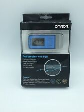 Omron HJ-322U Tri-axis Pedometer W/ USB Holder + Battery - Stores 21 Days NEW