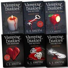 Vampire Diaries Collection L J Smith 6 Books Set 1 to 8 Series (Phantom, Etc) [P