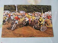 JOEL ROBERT GASTON RAHIER Genady moissev 1976 Motocross postcard by VANDERHOUT