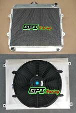 aluminum Radiator+shroud+FAN for TOYOTA HILUX RN85 YN85 22R 2.4L Petrol MT 91-97