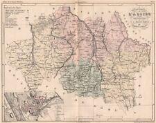 Allier. carte du département. plan de moulins. malte-brun 1852 old antique map