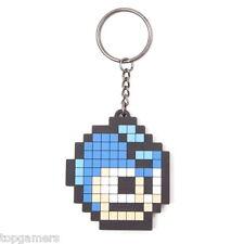 Píxeles Head-Mega Man/Megaman-goma llavero/keychain/keyring