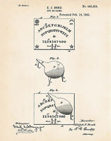 1891 Ouija Board Game Known as Weegee Spirit Wigi Talking Weegie Patent Print