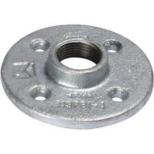 "(5)-Galvanized 4-1/16"" Dia Malleable Iron 1-1/4"" Pipe Floor Flange 511-606BG"