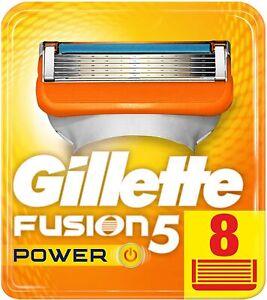 Gillette Fusion5 Power Systemklingen Rasierklingen 8er Pack NEU OVP