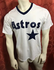 M L RARE Vintage 1994 HOUSTON ASTROS Jersey T-Shirt RUSSELL ATHLETIC Made In USA