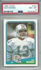 1988 Topps football card #190 Dan Marino, Miami Dolphins graded PSA 8