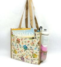 Owls Tapestry Tote Bag Multi Color Purse Shopping Shoulder Bag with Pockets