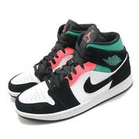 Nike Air Jordan 1 Mid SE South Beach White Hot Punch Black Men Shoes 852542-116