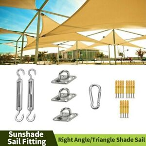 Sunshade Sail Parts Sets Garden Accessories Fittings Kit For Triangle Shade Sail