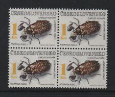 CZECHOSLOVAKIA 1992 (1k. VALUE) BEETLES - BLOCK OF 4 *VF MNH*