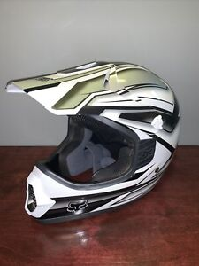 Fox Tracer Pro Black/White/Gray Motocross Helmet Size XS 53-54cm