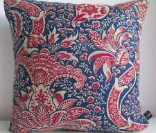 Liberty William Morris India Red Linen & Navy Velvet Fabric Arts Cushion Cover