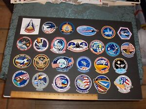 VINTAGE NASA (25) ITEM DECAL / STICKER LOT = FIRST 25 SPACE SHUTTLE MISSIONS