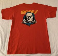 Powell Peralta Bones Skateboard T-Shirt - Red - Men's Large - Nwot;