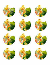 TINKER BELL Edible Cup Cake Image Personalised Birthday Decoration Party Topper