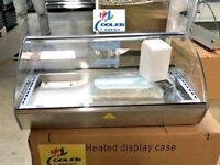 """NEW 30"""" Dry Warmer 4 Pan Curved Display Case Bakery Deli Hot Food Gas Station"""