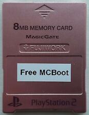 PS2 - Free McBoot on Memory card 8 MB Fujiwork PlayStation Metallic Pink