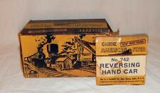 BOX ONLY for American Flyer 742 Reversing Handcar INTERESTING Labeled Box tipple