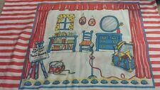 Vintage Pillowcase Kids Puppet Theater Twin Bears Judith Blau Fabric Cutter 1987