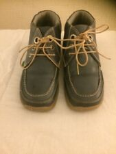 Boys Kickers Mid Blue Boots Size 32/13 Uk Size