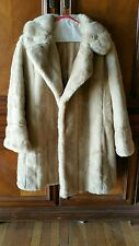 Vintage Genuine Diamonte by Dubrowsky and Joseph Fine Fur Coat Warm Winter Coat