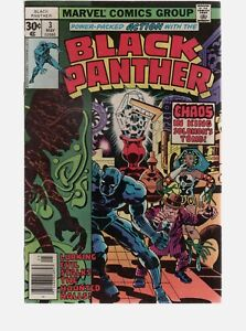 BLACK PANTHER  3 1ST SOLO TILE CLASSIC JACK KIRBY / BRONZE AGE MARVEL COMICS