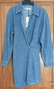 ZARA BLUE  SHORT DENIM WRAP DRESS  BNWT SIZE M