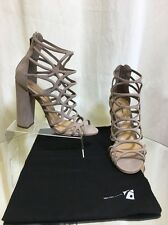 Schutz Sandal  Caged Suede neutal Size 38 New without Box